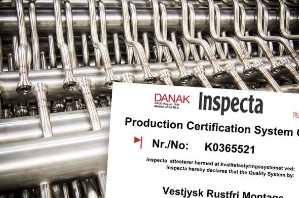 Certificering og arbejde af høj kvalitet hos Vestjysk Rustfri Montage